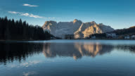 Time Lapse at Misurina Lake, Dolomites video