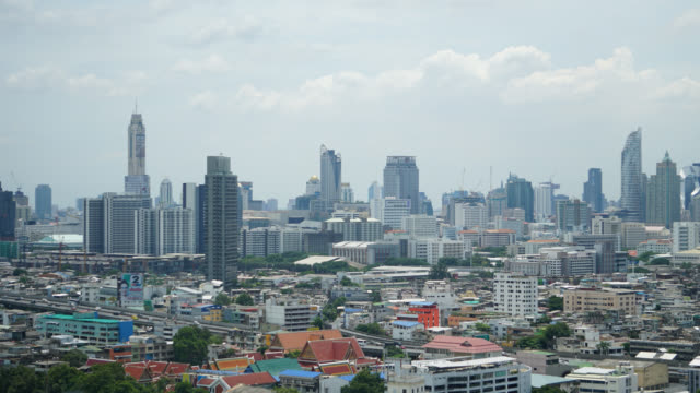 4K Time lapse Bangkok city skyline video