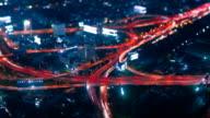 HD Time Lapse Bangkok, Highway by Night video