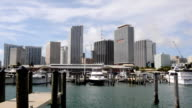 Time Lapse Bay Front Marina in Miami Florida video