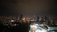 4K Time lapse Beautiful bangkok city skyline video