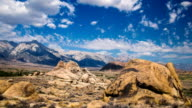 Time Lapse - Beautiful Clouds Moving Over Rock Formation in Alabama Hills, California, USA video