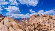Time Lapse - Beautiful Clouds Moving Over Rock Formation in Alabama Hills video