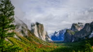 Time Lapse - Beautiful Clouds Moving Over Yosemite Valley, California, USA video