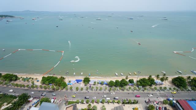 4K Time lapse Beautiful Pattaya city and Pattaya bay video