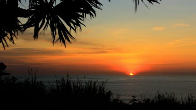 Time lapse beautiful sunset video