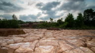 4K Time Lapse : Beauty Nature Of Dry Mud Texture video