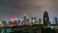 Time Lapse- Beijing CBD and CCTV Building, Night (Zoom) video