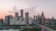Time Lapse- Beijing CBD area (Panning) video