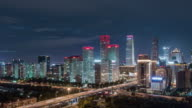 Time Lapse- Beijing CBD Area (LR Pan) video