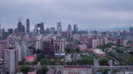Time Lapse- Beijing Central Business District, from Day to Dusk (WS HA) video