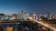 Time Lapse- Beijing Central Business District, Night (WS HA Panning) video