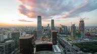 Time Lapse- Beijing Urban Skyline, Dramatic sky video