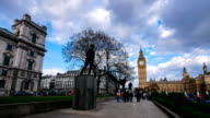 4K time lapse Big Ben and Westminster abbey in London, UK video
