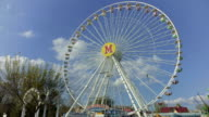 Time lapse, big wheel against the sky. video