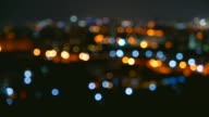 Time lapse bokeh city light video