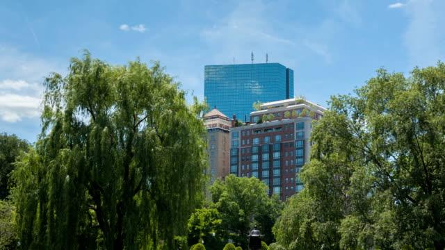 Time lapse Boston Public Garden video
