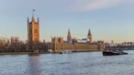 Time lapse British parliament and Big Ben at sun rise video