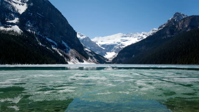 Time lapse broken ice on Lake Louise video