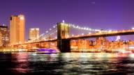 HD Time Lapse : Brooklyn bridge video