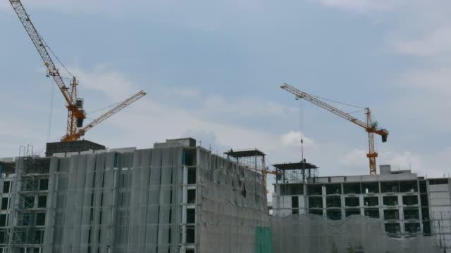 Time lapse building construction video
