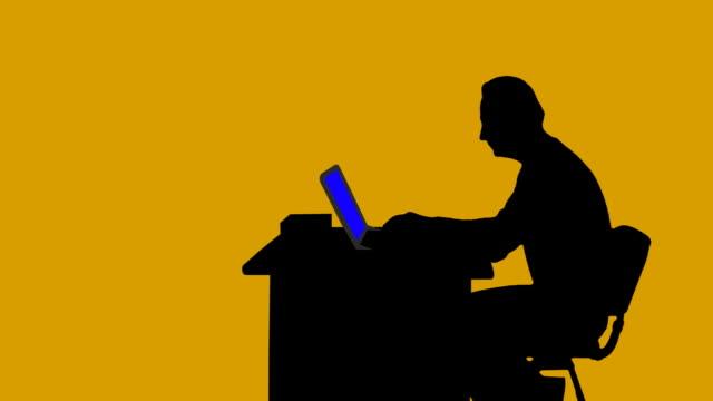 Time Lapse Businessman Silhouette video