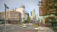 4K Time Lapse : Busy Harajuku street video