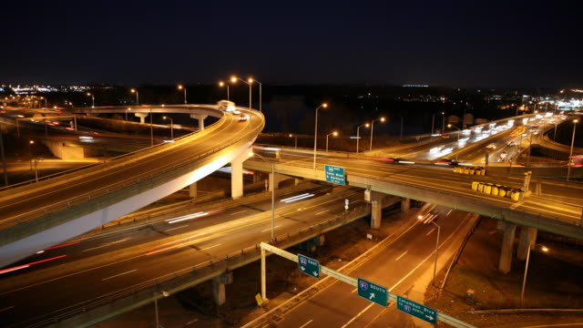 Time Lapse Busy Highway Interchange video