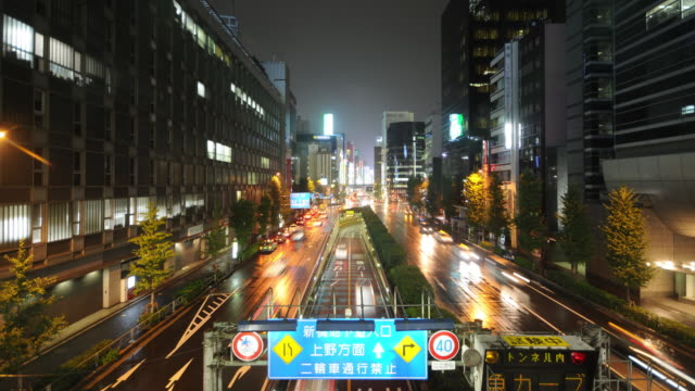 Time Lapse - Busy Tokyo street with rain #2 video
