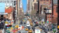 4K Time Lapse : busy traffic Manhattan street video