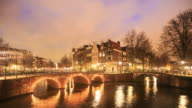 4K Time Lapse : canal in Amsterdam video