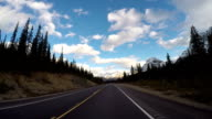 Time lapse POV car driving on scenic road video