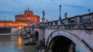 4K Time lapse Castel Sant Angelo and the Sant Angelo bridge video