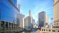 4K Time Lapse : Chicago River video