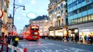 4K time lapse Christmas & Shopping on Oxford street, London video