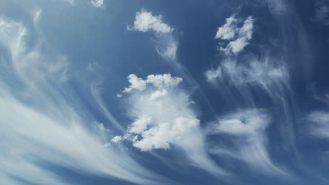 Time lapse. Cirrus clouds video
