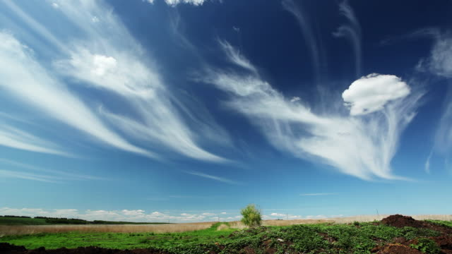 Time lapse Cirrus clouds video