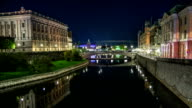 HD Time Lapse: City Canal in Stockholm video
