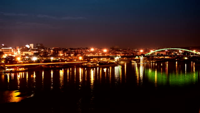 Time Lapse City Night Panorama video