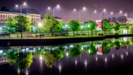 HD Time Lapse: City Park by The Water Tilt video