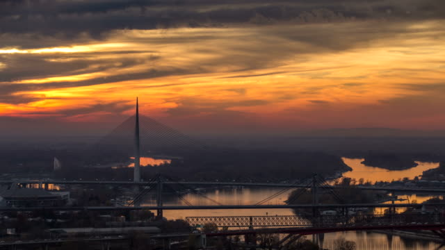4K Time Lapse - City sunset video