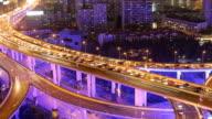 Time Lapse - City Traffic at Night (Panning) video