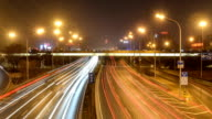 Time Lapse - City Traffic at Night video