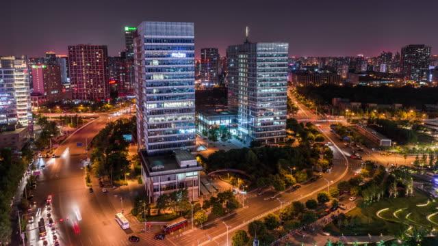 Time Lapse- City Traffic of Beijing at Night (RL Pan) video