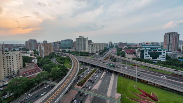 Time Lapse- City Traffic of Beijing (Panning) video