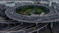 Time Lapse- City Traffic of Shanghai, Nanpu Bridge (CU HA Zoom out) video