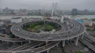 Time Lapse- City Traffic of Shanghai (CU HA Panning) video