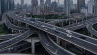 Time Lapse- City Traffic of Shanghai, Yan'an Bridge video