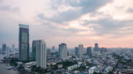 Time lapse cityscape at Bangkok city Thailand video