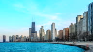 Time lapse : Cityscape of Chicago video